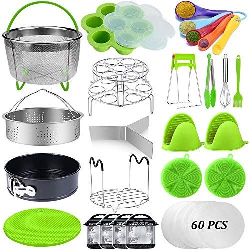 Steamer Basket Ninja Foodi Springform Pan Egg Bites Mold and More Pot Accessory 13 Pcs Instant Pot Accessories Set Fits 6,8 Qt InstaPot 8qt Other Pressure Cookers Egg Rack